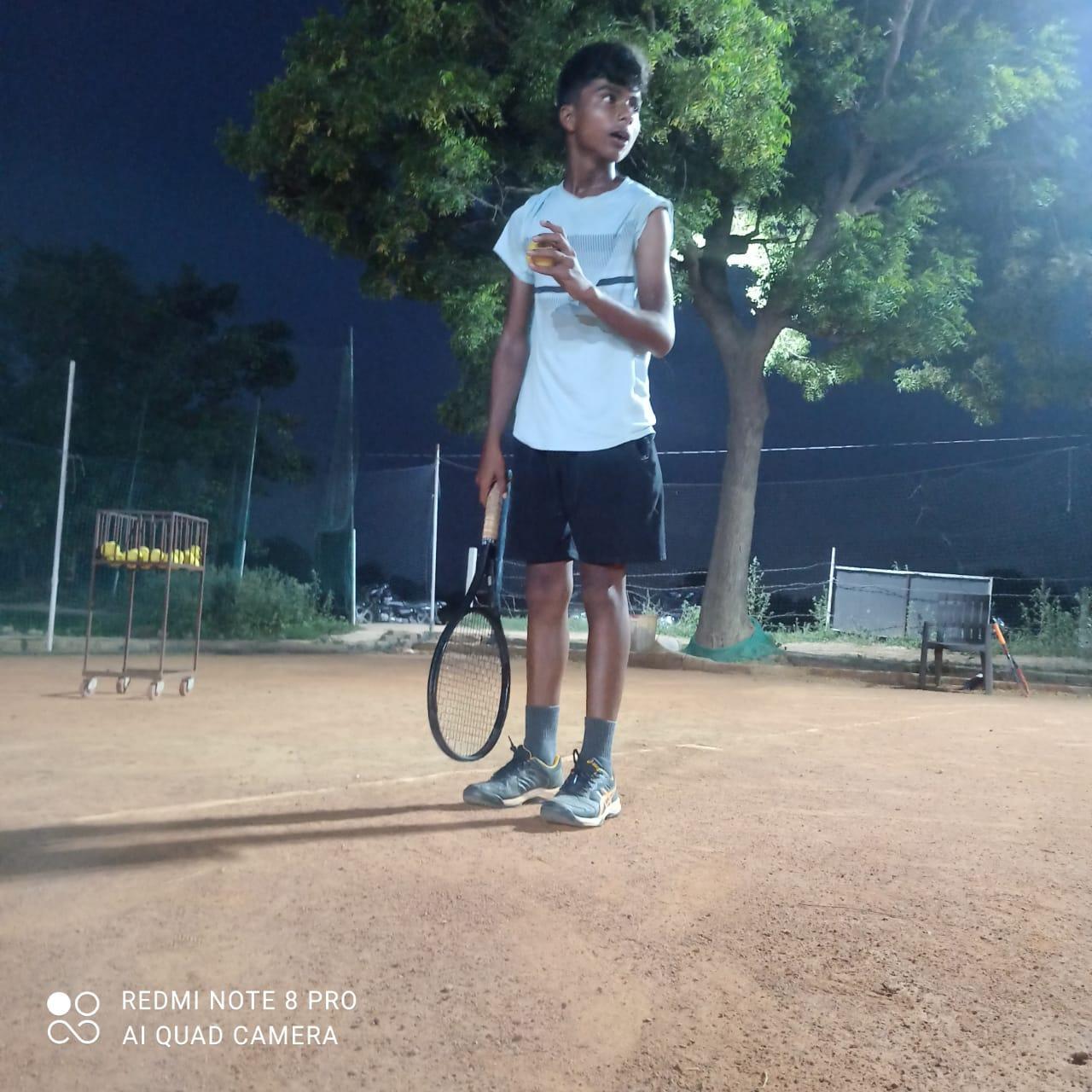 Krishna Sharrma young lawn tennis player in Ghaziabad